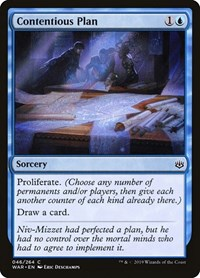 Contentious Plan, Magic: The Gathering, War of the Spark