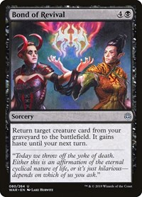 Bond of Revival, Magic: The Gathering, War of the Spark