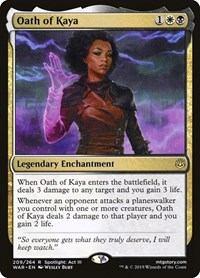 Oath of Kaya, Magic: The Gathering, War of the Spark