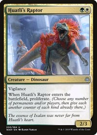 Huatli's Raptor, Magic: The Gathering, War of the Spark