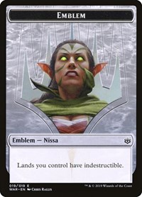 Emblem - Nissa, Who Shakes the World, Magic, War of the Spark