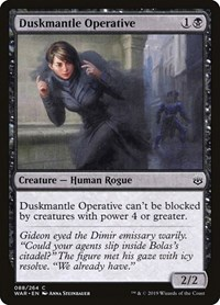 Duskmantle Operative, Magic: The Gathering, War of the Spark