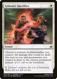 Gideon's Sacrifice, Magic: The Gathering, War of the Spark