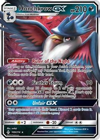 Honchkrow GX, Pokemon, SM - Unbroken Bonds