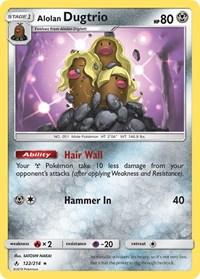 Alolan Dugtrio, Pokemon, SM - Unbroken Bonds