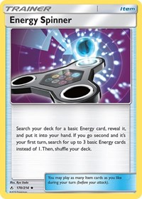 Energy Spinner, Pokemon, SM - Unbroken Bonds