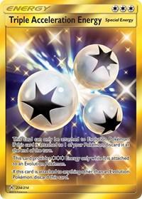 Triple Acceleration Energy (Secret), Pokemon, SM - Unbroken Bonds