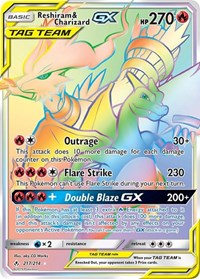 Reshiram & Charizard GX (Secret), Pokemon, SM - Unbroken Bonds