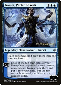 Narset, Parter of Veils, Magic: The Gathering, Prerelease Cards