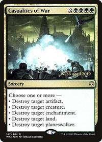 Casualties of War, Magic, Prerelease Cards