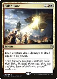 Solar Blaze, Magic: The Gathering, Prerelease Cards