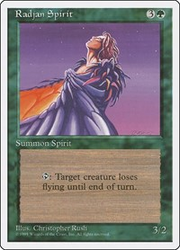 Radjan Spirit, Magic: The Gathering, Fourth Edition