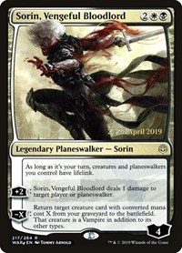 Sorin, Vengeful Bloodlord, Magic: The Gathering, Prerelease Cards