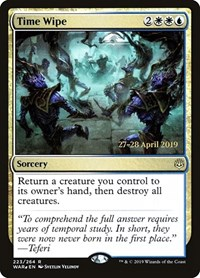 Time Wipe, Magic: The Gathering, Prerelease Cards