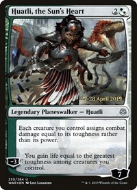 Huatli, the Sun's Heart, Magic: The Gathering, Prerelease Cards