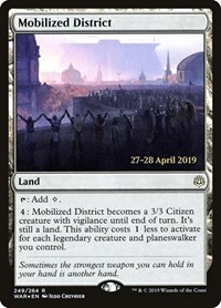 Mobilized District, Magic, Prerelease Cards