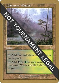 Llanowar Wastes - 2001 Jan Tomcani (APC), Magic: The Gathering, World Championship Decks