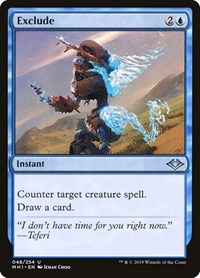 Exclude, Magic: The Gathering, Modern Horizons