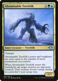 Abominable Treefolk, Magic, Modern Horizons