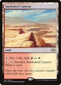 Sunbaked Canyon, Magic: The Gathering, Modern Horizons