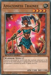 Amazoness Trainee, YuGiOh, Speed Duel: Attack from the Deep
