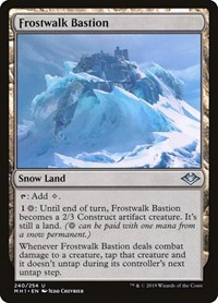 Frostwalk Bastion, Magic: The Gathering, Modern Horizons