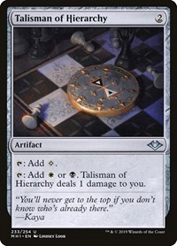 Talisman of Hierarchy, Magic, Modern Horizons