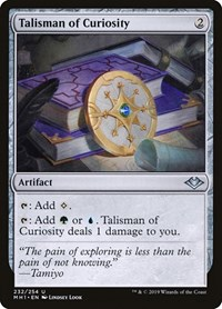 Talisman of Curiosity, Magic: The Gathering, Modern Horizons