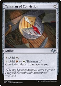 Talisman of Conviction, Magic, Modern Horizons