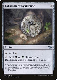 Talisman of Resilience, Magic, Modern Horizons