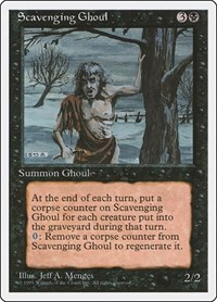 Scavenging Ghoul, Magic: The Gathering, Fourth Edition