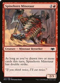 Spinehorn Minotaur, Magic: The Gathering, Modern Horizons