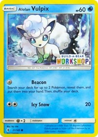 Alolan Vulpix (Build-A-Bear Workshop Exclusive), Pokemon, Miscellaneous Cards & Products