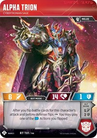 Alpha Trion - Cybertronian Sage, Transformers TCG, War for Cybertron: Siege I