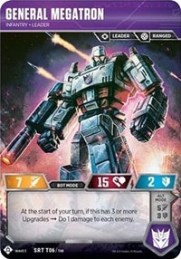 General Megatron - Infantry Leader, Transformers TCG, War for Cybertron: Siege I