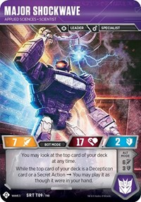 Major Shockwave - Applied Sciences Scientist, Transformers TCG, War for Cybertron: Siege I