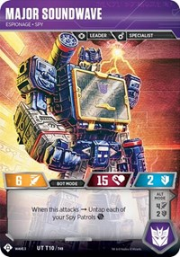 Major Soundwave - Espionage Spy, Transformers TCG, War for Cybertron: Siege I