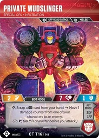 Private Mudslinger - Special Ops Infiltration, Transformers TCG, War for Cybertron: Siege I