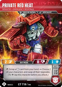 Private Red Heat - Infantry Emergency Response, Transformers TCG, War for Cybertron: Siege I