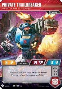 Private Trailbreaker - Infantry Fortification And Defense, Transformers TCG, War for Cybertron: Siege I
