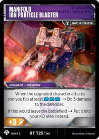 Raider Aimless - Air Force Weapons // Manifold Ion Particle Blaster, Transformers TCG, War for Cybertron: Siege I