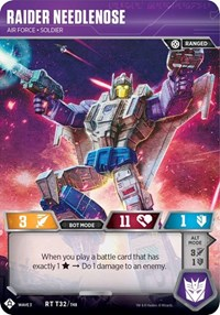 Raider Needlenose - Air Force Soldier, Transformers TCG, War for Cybertron: Siege I