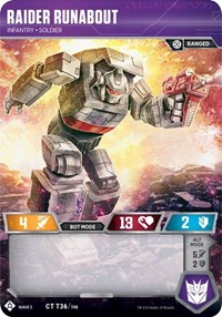 Raider Runabout - Infantry Soldier, Transformers TCG, War for Cybertron: Siege I
