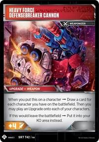 Sergeant Cog - Artillery Mechanic // Heavy Force Defensebreaker Cannon, Transformers TCG, War for Cybertron: Siege I
