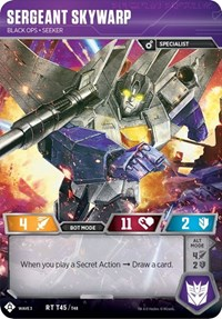 Sergeant Skywarp - Black Ops Seeker, Transformers TCG, War for Cybertron: Siege I