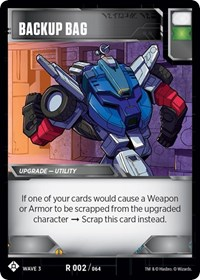 Backup Bag, Transformers TCG, War for Cybertron: Siege I
