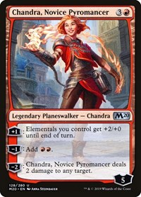 Chandra, Novice Pyromancer, Magic, Core Set 2020