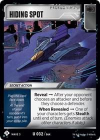 Hiding Spot, Transformers TCG, War for Cybertron: Siege I