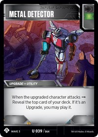 Metal Detector, Transformers TCG, War for Cybertron: Siege I