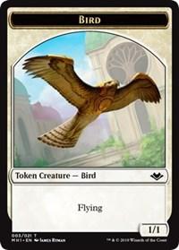 Bird (003) // Elemental (009) Double-sided Token, Magic: The Gathering, Modern Horizons